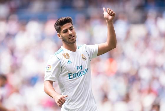Marco Asensio chơi rất hay mùa này trong màu áo Real Madrid. Ảnh: Getty Images.