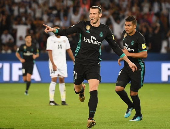 Gareth Bale ăn mừng bàn thắng. Ảnh Getty Images.