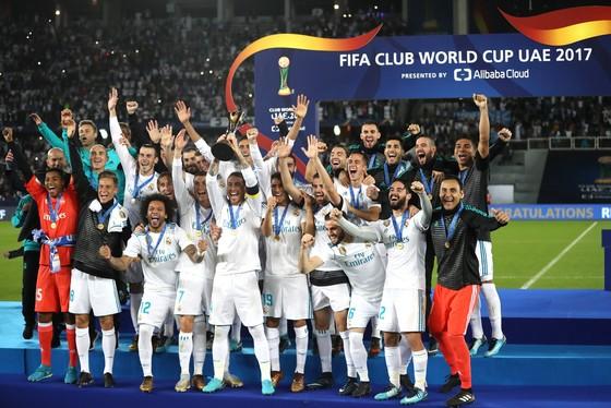 Real Madrid đăng quang thế giới. Ảnh: Getty Images.