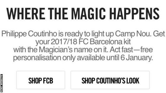 "Khi Nike ""tuyên bố"" Coutinho gia nhập Barcelona ảnh 1"