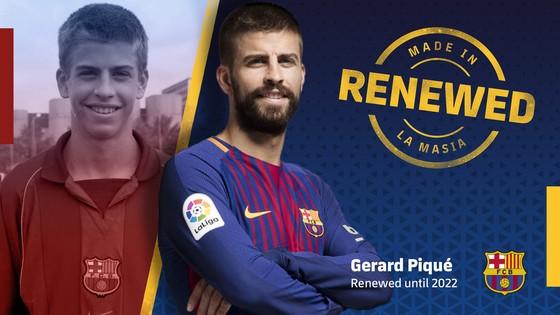 Gerard Pique sẽ gắn bó với Barca đến năm 2022.