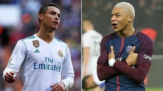 Cristiano Ronaldo (Real Madrid) và Kylian Mbappe (PSG).