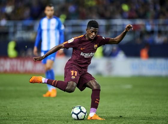 Ousmane Dembele tỏa sáng trong trận thắng Malaga. Ảnh: Getty Images.
