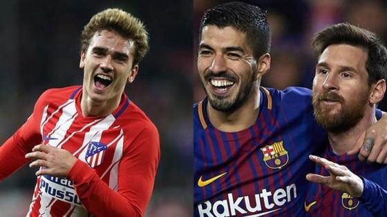 Messi và Suarez sẽ chào đón Griezman (trái)