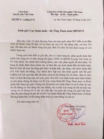 Lùm xùm boxing Việt Nam: Liên đoàn xin lỗi vì kết quả không chính xác ảnh 1