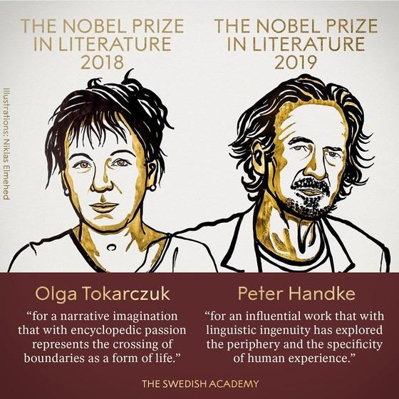 Giải Nobel Văn học 2018 và 2019 đã có chủ ảnh 1