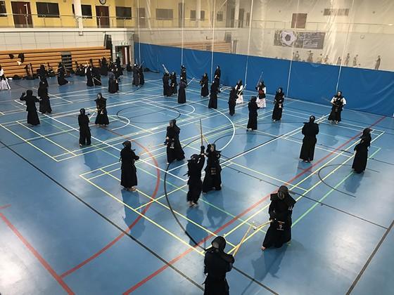 Các võ sĩ Kiếm đạo tại Đại học RMIT. Ảnh: NHẬT ANH