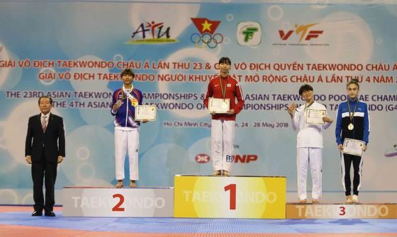Giải vô địch Taekwondo châu Á năm 2018: Trương Kim Tuyền giành HCV châu Á nội dung đối kháng ảnh 1