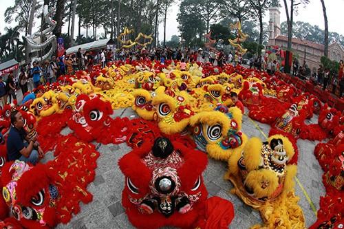 108  lân đồng diễn lập kỷ lục Guinness Việt Nam  ảnh 3