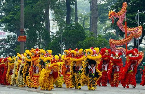 108  lân đồng diễn lập kỷ lục Guinness Việt Nam  ảnh 2