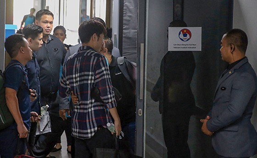 Xuân Trường, Công Phượng, Văn Lâm hội quân cùng tuyển Việt Nam tại khách sạn Modena (Buriram – Thái Lan) ảnh 1