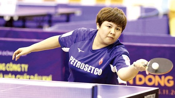 Mai Hoàng Mỹ Trang vẫn là tay vợt số 1 của TPHCM. Ảnh: DŨNG PHƯƠNG