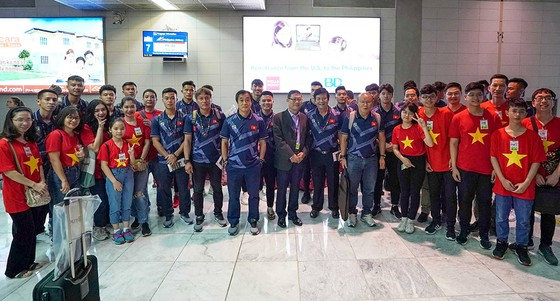 U 22 Việt Nam đến Philippines với mục tiêu săn HCV SEA Games. Ảnh: Dũng Phương