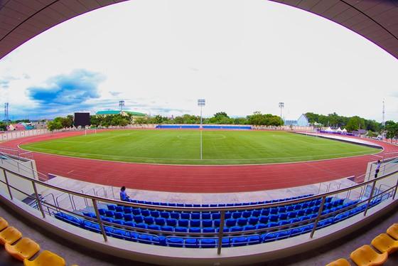 Sân Binan nơi U22 Việt Nam thi đấu 3 trận vòng bảng. Ảnh: DŨNG PHƯƠNG