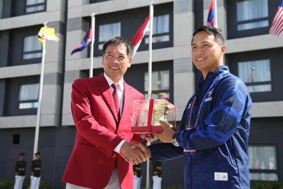 Lễ thượng cờ 'hoành tráng' của đoàn thể thao Việt Nam tại SEA Games 30 ảnh 5