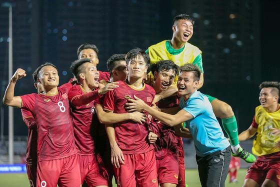 Tuyển U 22 Việt Nam quyết tâm thắng U 22 Việt Nam. Ảnh: Dũng Phương
