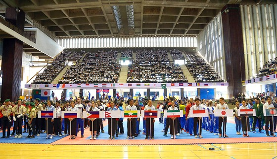 Khai mạc ngày hội võ Việt trên đất Campuchia. Ảnh: Nhật Anh