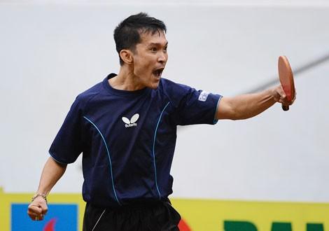 Tay vợt kỳ cựu Đoàn Kiến trở lại bàn đấu...hy vọng tạo nên nhiều sức hấp dẫn cho giải đấu. Ảnh: Dũng Phương