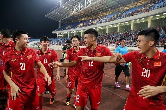 Đội tuyển Việt Nam giành vé tham dự VCK Asian Cup 2019. (ảnh: MINH HOÀNG)
