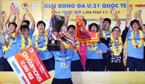 Đội U21 Yokohama lần thứ hai đăng quang tại giải. Ảnh: DŨNG PHƯƠNG