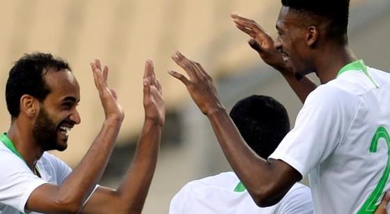 Niềm vui của cầu thủ đội Saudi Arabia