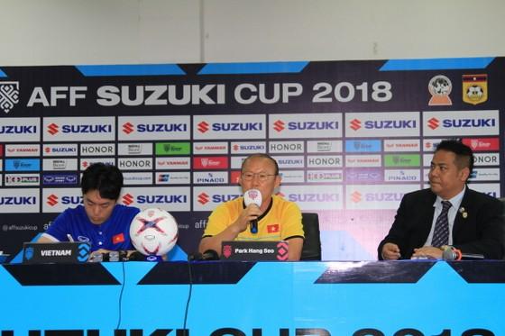 HLV Park Hang-seo tại buổi họp báo. Ảnh: PHƯƠNG THỦY