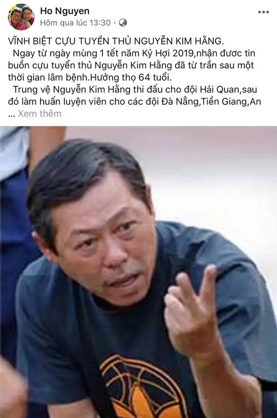 Cựu HLV Nguyễn Kim Hằng qua đời ở tuổi 64 ảnh 3