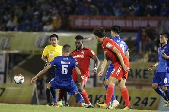 HA.GL ghi thêm nợ khi lại thua Quảng Nam ở Tứ kết Cúp Quốc gia. Ảnh: VIẾT ĐỊNH