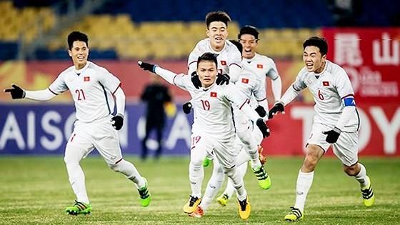 Kỳ tích tại Thường Châu đã đưa bóng đá Việt Nam sang trang mới. Ảnh: Anh Khoa