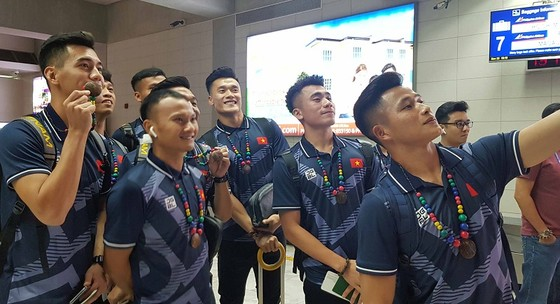Đội tuyển U22 Việt Nam với mục tiêu HCV môn bóng đá tai kỳ SEA Games 30. Ảnh: Đoàn Nhật