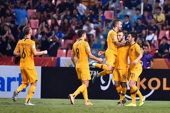 Niềm vui chiến thắng của Australia. Ảnh: AFC