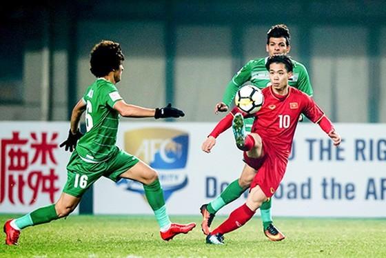 Công Phượng trong cuộc so tài cùng Iraq ở VCK U23 châu Á 2018. Ảnh: ANH KHOA