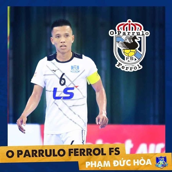 Đức Hòa hiện đang thi đấu cho CLB O Parrulo Ferrol (Tây Ban Nha). Ảnh: TSNFC