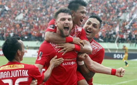 Marko Simic cùng các đồng đội ở CLB Persija Jakarta