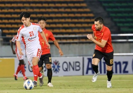 CLB TPHCM đang tạo ấn tượng ở sân chơi AFC Cup 2020. Ảnh: HCMCFC
