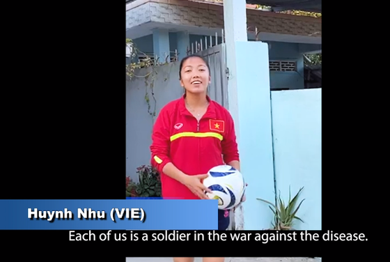 Huỳnh Như tham gia chiến dịch phòng, chống Covid-19