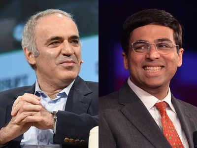 Kasparov và Anand là 2 trong số những kỳ thủ tham gia giải đấu