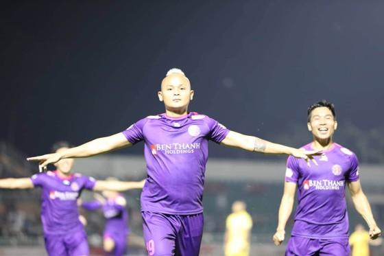 CLB Sài Gòn kéo dài mạch bất bại lên 10 trận. Ảnh: Nguyễn Hoàng