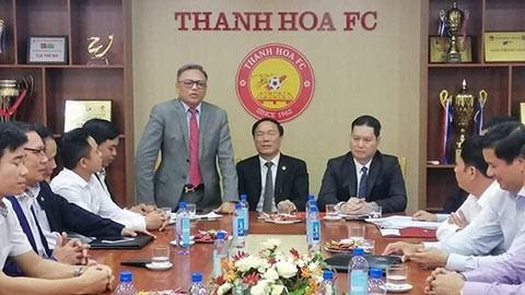 Lãnh đạo CLB Thanh Hóa trong buổi họp vào ngày 20-11