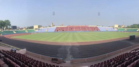 Sân Việt Trì, nơi đăng cai trận giao hữu lượt về thay cho sân Thống Nhất