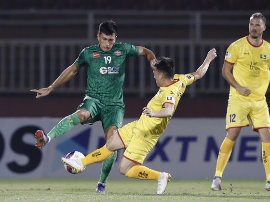 Đỗ Merlo tiếp tục lập công cho Sài Gòn FC. Ảnh: DŨNG PHƯƠNG