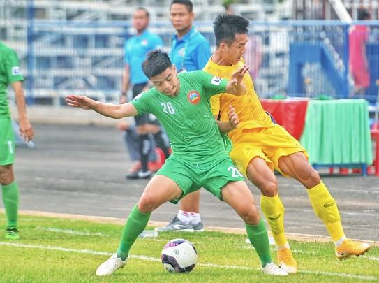 Bình Phước và Quảng Nam chia điểm với tỷ số 0-0. Ảnh: DŨNG PHƯƠNG