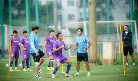 Đội tuyển U22 Việt Nam kết thúc đợt tập luyện  ảnh 1