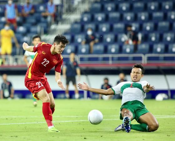 Tiến Linh trong bàn mở tỷ số cho đội tuyển Việt Nam. Ảnh: ANH KHOA