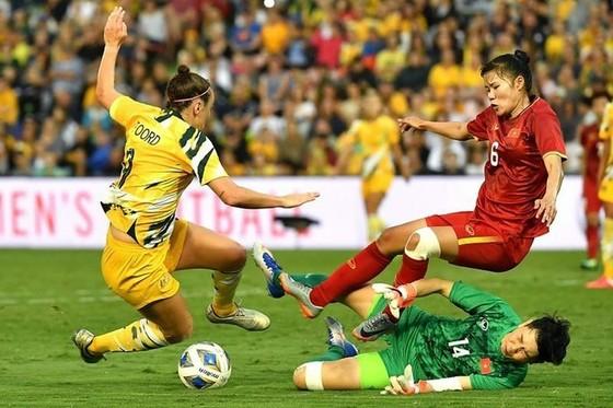 Đội tuyển nữ Việt Nam trong cuộc so tài mới đây với đội tuyển Australia
