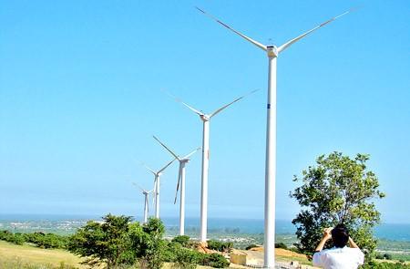 Công trình dự án điện gió tại huyện Tuy Phong, tỉnh Bình Thuận