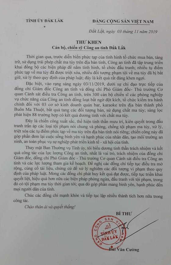 Bí thư Tỉnh ủy Đắk Lắk gửi thư khen vụ đột kích các quán bar, karaoke ảnh 1