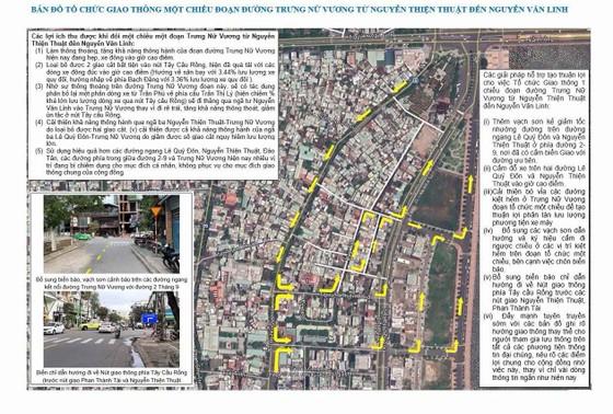 Đà Nẵng triển khai giao thông một chiều tại đường Trưng Nữ Vương ảnh 1