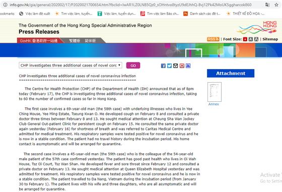 Làm rõ thông tin về người Hong Kong dương tính với Covid-19 đã từng đi du lịch Đà Nẵng ảnh 1