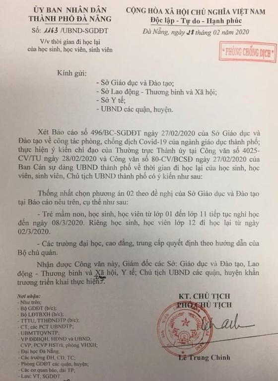 Đà Nẵng: Học sinh lớp 12 đi học lại từ 2-3 ảnh 1